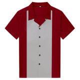De in het groot Modieuze Bruine Overhemden van het Kegelen van de Kastanje Retro Unisex-
