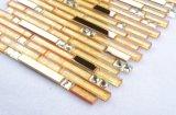 4mm luminosa 25*25mm mistura Vidro cristal Série Light yellow mosaic