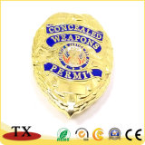주문을 받아서 만들어진 도매 고품질 금속 경찰 기장