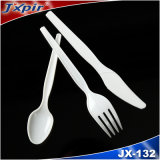 Jx132 Transparant Beschikbaar Plastic Bestek