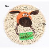 La peluche stridula di masticazione del cane del cucciolo gioca interattivo e la masticazione dei giocattoli della corda del cotone