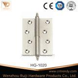 Селитебный латунный шарнир двери нержавеющей стали с фикчированным Pin (HG-1039)