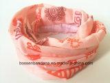 Écharpe teinte orange faite sur commande Headwear de Tubies de collet de polyester de produit d'usine de la Chine
