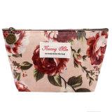 Vintage цветочным рисунком печать Bag сумки женщины составляют чехол для поездок медали подушки безопасности хранения данных органайзера красоты случае