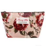 As mulheres impressas florais do saco do vintage compo sacos para compo o malote para o caso da beleza do armazenamento do organizador do saco da moeda do curso