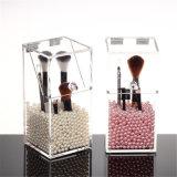 Sostenedor de cepillo cosmético del almacenaje del maquillaje de acrílico del organizador de la alta calidad