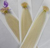 100%の人間の毛髪は前に結んだI/U/V/Flatの先端の毛の拡張ケラチンの毛(UT15)を