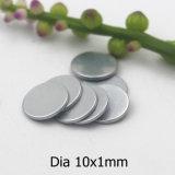 Platten-Form permanente NdFeB Manget Abmessung 10X1mm mit Zink-Beschichtung