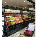 Air Cooling Open Display Chiller for Beverage Dairy Showcase AUTO Defrosting