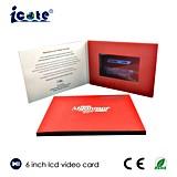 최상 6 인치 LCD 영상 소책자 - 인쇄에 있는 LCD 인사말 카드 영상