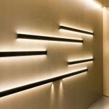 Decoração interna acima e para baixo luz linear da parede do diodo emissor de luz com iluminação de lados dobro