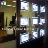 La pubblicità del doppio ha parteggiato segni della visualizzazione della finestra del bene immobile della casella chiara del LED