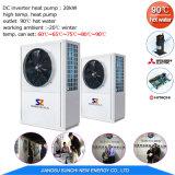 Pompe à chaleur air-eau fonctionnante de pompe à chaleur de reprise de chaleur résiduelle d'eau chaude de la sortie 90c de -20c 90c pour le chauffage à la maison de radiateur