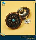 De antieke Uitstekende Knoop van de Jeans van de Legering van het Zink met de Oude Knopen van de Diamant