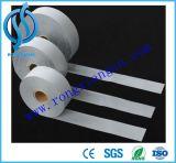 Le double argenté dégrossit tissu d'extension r3fléchissant, bande r3fléchissante de tissu de visibilité élevée, matériaux réflexes