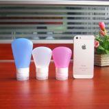 3ПК портативные поездки бутылок силикон герметичным поездки контейнеров с ПВХ прозрачный мешок для макияжа