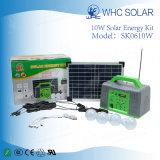 Mini sistema móvil solar popular del cargador 10W para el uso casero