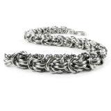 Il salto di Chainmail dell'acciaio inossidabile di DIY squilla il braccialetto