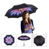 Heißer windundurchlässiger doppelte Schicht-umgekehrter Regenschirm des Verkaufs-23inch*8K