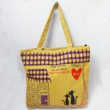 Nuevo lienzo de la bolsa de viaje logotipo bordado de bolsos de algodón