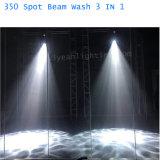 lumière principale mobile de faisceau de lavage d'endroit de 17r 350watt 3in1
