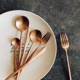 Комплект Cutlery серебра и золота нержавеющей стали PCS оптовой продажи 128