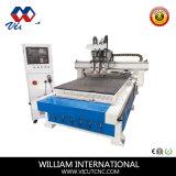 Máquina de gravura do CNC do baixo preço para a madeira, acrílico, metal com auto mudança do eixo