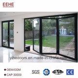 Vidro de alumínio de dobramento da porta de dobradura da porta de vidro do preço de Resonable