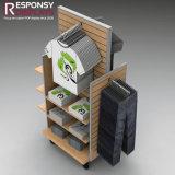 Горячий шкаф POS деревянный свободно стоящий для показа вися индикации одежды