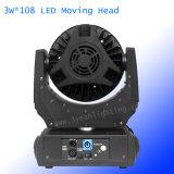 단계 점화 108*3W RGBW LED 세척 이동하는 헤드