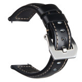 Italian Style Thick Genuine Leather Watch Strap for Samsung GEAR S3 Classic/Frontier