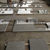 Partie supérieure du comptoir Polished chinoise de cuisine de pierre de quartz de marbre de granit de blanc gris