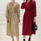 Платье изготовленный на заказ рубашки отдыха женщин длиннее с поясом