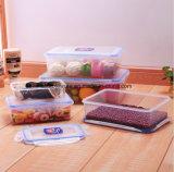 Contenitore di alimento di plastica libero, casella di pranzo di plastica di rettangolo dei pp 1200ml