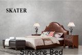 A03 미국식 침실 직물 침대 가죽 침대