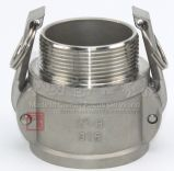 Adaptateur d'extrémité de Camlock d'acier inoxydable un type couplage de Qucik de connecteur