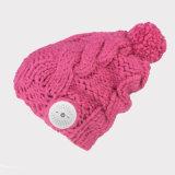 겨울 선택 온난한 Muisc 뜨개질을 하는 여자 지능적인 모자 무선 Bluetooth 헤드폰 스피커 Mic Bluetooth 모자 4 색깔