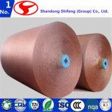 고무 타이어 또는 폴리에스테 직물 또는 폴리에스테 필터 피복 또는 폴리에스테 어망 또는 폴리에스테에 의하여 회전되는 털실에 증강에서 사용되는 산업 직물