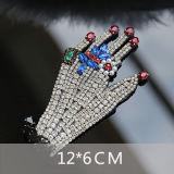 装身具のためのカスタムラインストーンの中心の刺繍3Dパッチの水晶