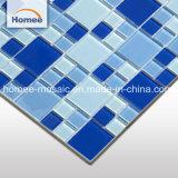 formato di vetro materiale quadrato blu profondo lucido delle mattonelle della piscina del mosaico di 48*48 23*23