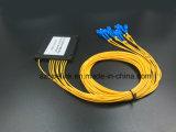 광학 섬유 케이블 Gpon 원거리 통신 1X8 플라스틱 상자 PLC 쪼개는 도구