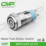 CMP 12mm de Waterdichte Schakelaar van de Drukknop