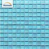 El azulejo de cristal de la onda azul del mosaico de la talla de la hoja para la piscina embaldosa el mosaico de cristal