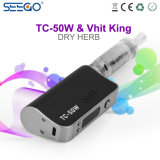 2017년 Seego Tc 50W Herbal Vaporizer Vhit 전자 담배 Mod & 임금