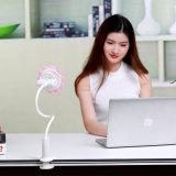 Ventilador elétrico recarregável do USB do grampo do girassol mini mini com vento frio super
