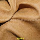 Litcheeの穀物デザインNubuck PUの合成物質の革