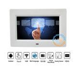 Frame capacitivo do álbum de foto de 7 Digitas da tela de toque do LCD da polegada multi (MW-077TWDPF)