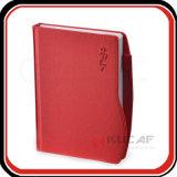Planificador de encargo del organizador del cuaderno de cuero del asunto