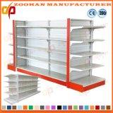 高品質の二重味方されたスーパーマーケットの棚の表示棚付けラック(Zhs3)