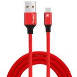 cable de carga rápido trenzado de nylon del USB del teléfono 2.1A hasta el Tipo-c cable del 1.2m para Samsung HTC
